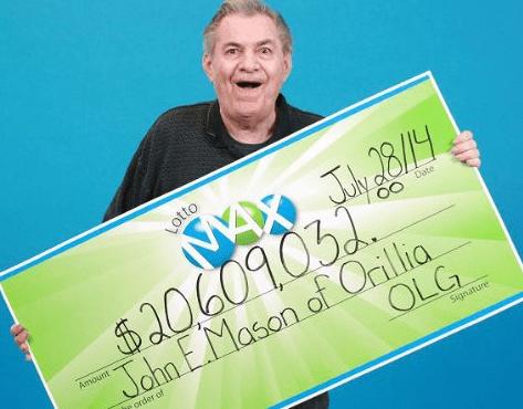 Призы в Canada Lotto