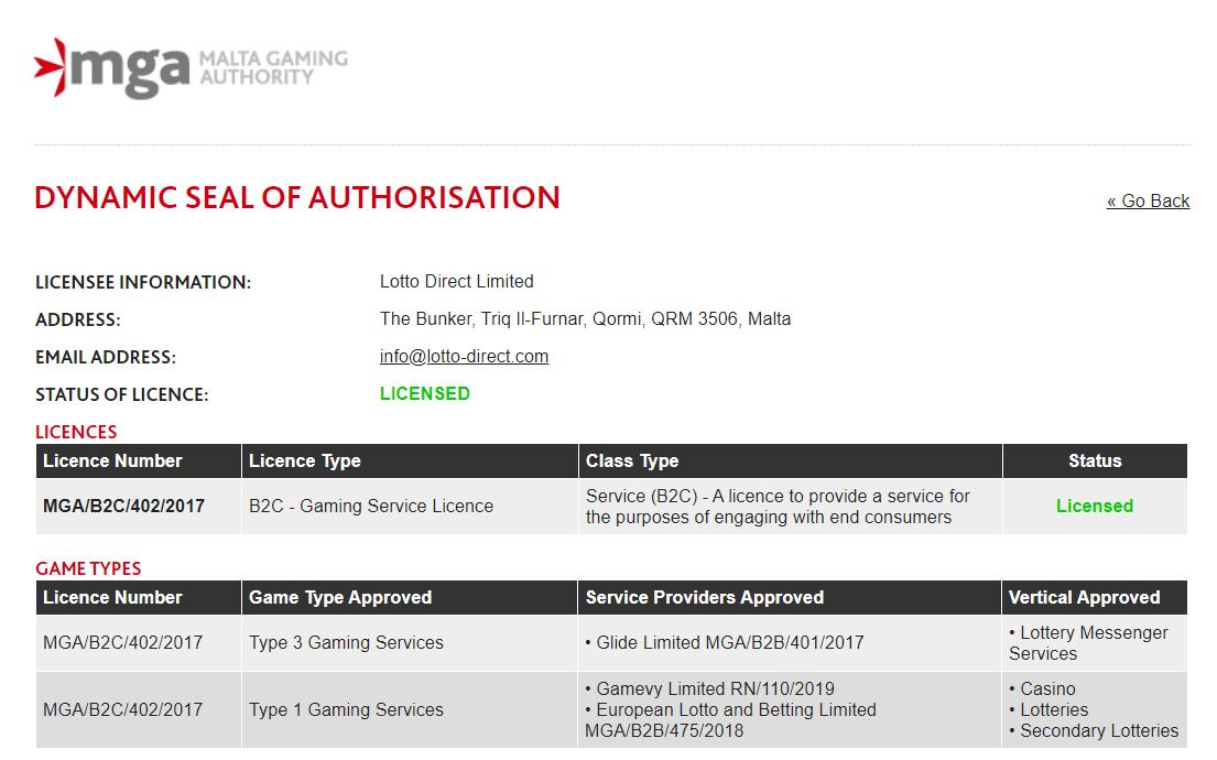 игорная лицензия
