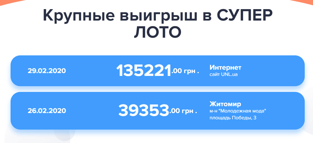 Как получить выигрыш в Суперлото Украина